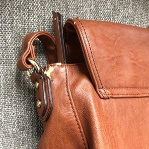 Aldo Bags - 3/$25 Aldo Brown Faux Leather Large Crossbody Bag